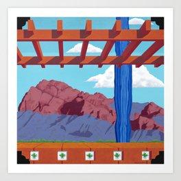 Blue Saguaro Art Print