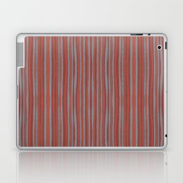Grey and terracotta stripes Laptop & iPad Skin