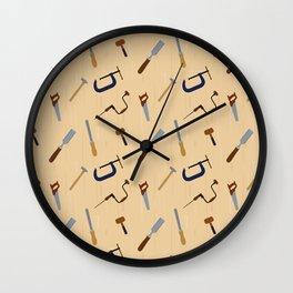 Wood shop Wall Clock