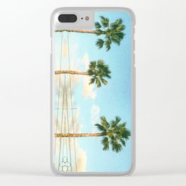 Palm Trees and Power lines in Los Angeles Clear iPhone Case
