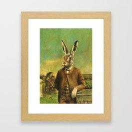 Victorian Hare Framed Art Print