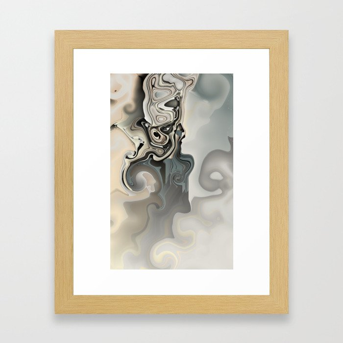 In the Middle: abstract art glitch Framed Art Print
