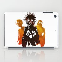 war iPad Cases featuring WAR by Lukas Stobie
