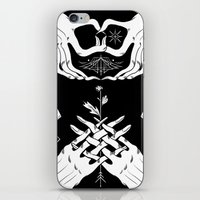 moth iPhone & iPod Skins featuring Moth by Nick Iluzada