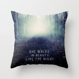 She Walks In Beauty Throw Pillow