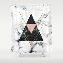 Geo glam marble Shower Curtain