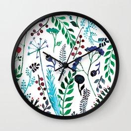 Plant pattern Wall Clock
