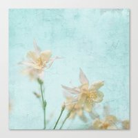 teal Canvas Prints featuring TEAL by SUNLIGHT STUDIOS  Monika Strigel