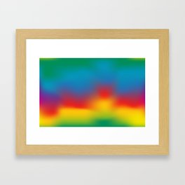 Abstract Colorful Aurora Framed Art Print