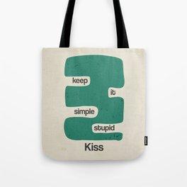 Kiss - Keep it simple stupid - Green Vintage Tote Bag