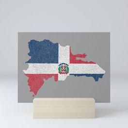 Dominican Republic Map Design Mini Art Print