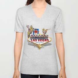 Las Vegas Welcome Sign Unisex V-Neck