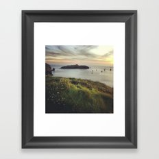 Mullion Cove Sunset Framed Art Print