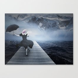 Ginger Rogers - At the dock Canvas Print