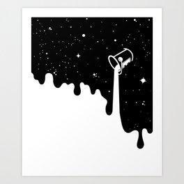 Space Paint Art Print