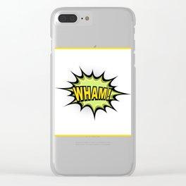 WHAM! Comic Book Clear iPhone Case