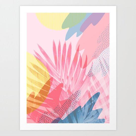 Pastel Jungle Art Print