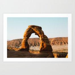 Arches at Sunrise Art Print