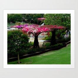 Man made flower tree Art Print