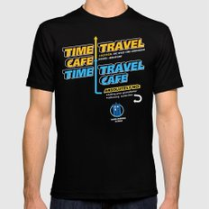 Time Travel Cafe Mens Fitted Tee MEDIUM Black