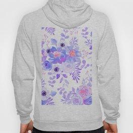 Lilac lavender violet pink watercolor elegant floral Hoody