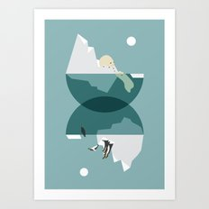 North and south Art Print
