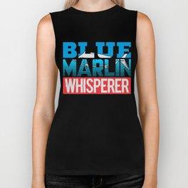 Blue Marlin Whisperer Atlantic Fisherman Biker Tank