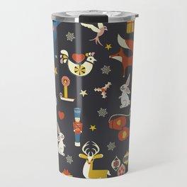 Christmas symbols pattern Travel Mug