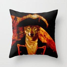 Wolf Capitan Throw Pillow
