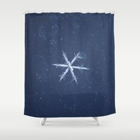 snowflake Shower Curtains featuring Snowflake by LainPhotography