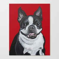 coco Canvas Prints featuring Coco by Pawblo Picasso