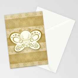 Golden Butterfly Stationery Cards