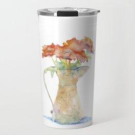 Pitcher of Flowers Travel Mug