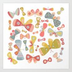 Butterfly Tango Light Art Print