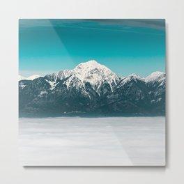 Sea of fog beneath the mountain Metal Print