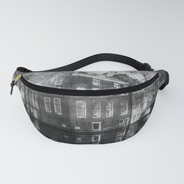 reflection canal water street Fanny Pack