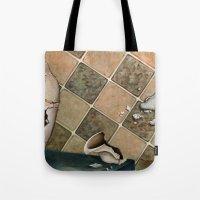 broken Tote Bags featuring broken by Andreas Derebucha