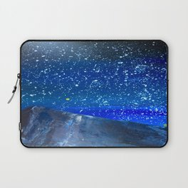Moon Rising as an orange dot in the Great Sand Dunes National Park, USA travel Laptop Sleeve