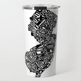 Typographic New Jersey Travel Mug