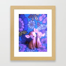 Mod Deer Framed Art Print