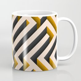Orange Maze Coffee Mug