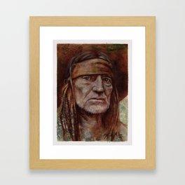 Willie Nelson Framed Art Print