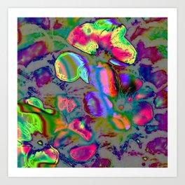 Neon Nature Art Print