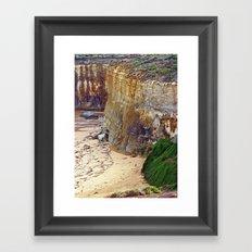 Cliff Hanger Framed Art Print