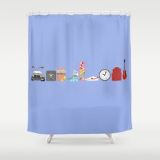 Back to the Future - Iconic Props Shower Curtain
