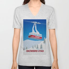 Snowbird Ski Resort Unisex V-Neck