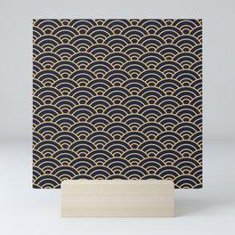 Japanese Wave Pattern  Mini Art Print