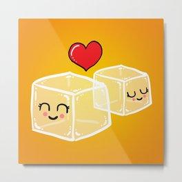 Ice cubes in love Metal Print