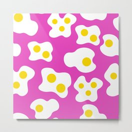 Pink Fried Egg Print  Metal Print