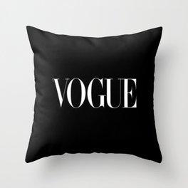 Black Vogue Throw Pillow